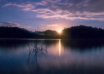 Moonrise over Lake Santeetlah