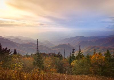 Fall from Waterrock Knob, Blue Ridge Parkway